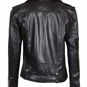 women faux leather biker jacket