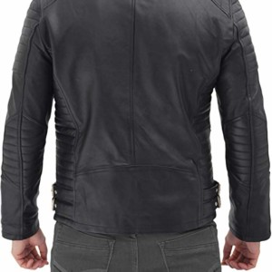 arrow military men cow hide black biker leather jacket