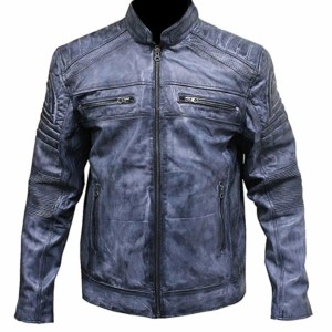 blue biker jacket mens