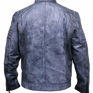 Mens waxed biker jacket
