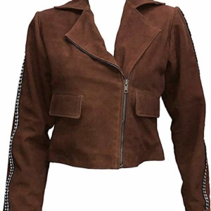 gal gadot brown leather jacket