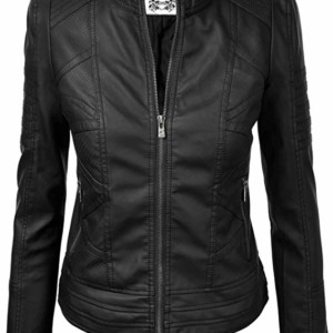 matte leather jacket womens
