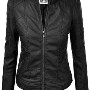 matte leather jacket womens