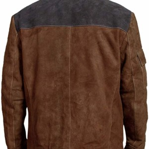 han solo a star wars story brown distressed leather jacket