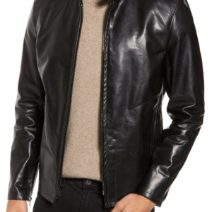 Café Racer Unlined Cowhide Leather Jacket