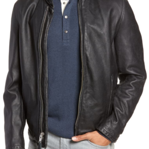 Café Racer Hand Vintaged Cowhide Leather Jacket