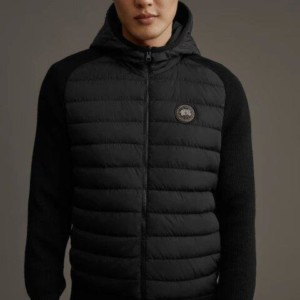 HYBRIDGE KNIT REVERSIBLE HOODY BLACK LABEL
