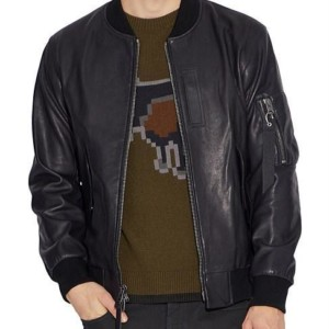 COACH LEATHER MA-1 JACKET