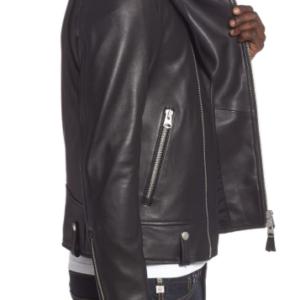 Fenton Leather Moto Jacket