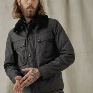 PATROL WAXED JACKET WITH SHEARLING