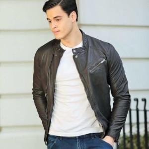 Rugged bomber Leather jacket