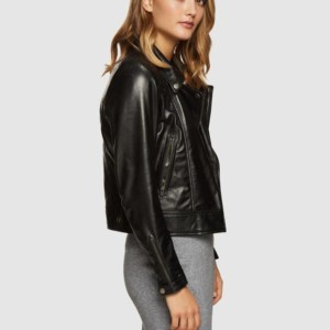 OXFORD Emma Biker Leather Jacket