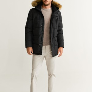 DETACHABLE FAUX-FUR ANORAK