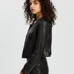 ENA PELLY Signature Leather Jacket