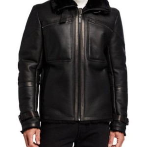 Karl Lagerfeld Shearling Aviator Jacket