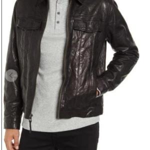 Classic Fit Leather Trucker Lambskin Jacket