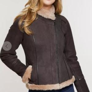Molly Shearling Sheepskin Bomber Jacket STYLE # 13206