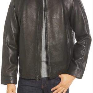 Orlando Leather Racer Coat