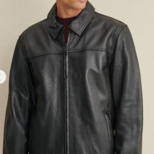 Big & Tall Leather Jacket with Thinsulat Lining