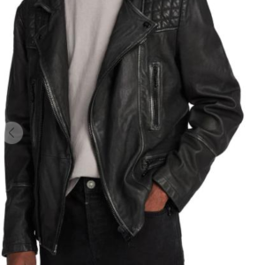 Cargo Biker Slim Fit Leather Jacket