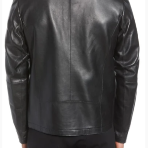 Bonded Leather Racing Jacket