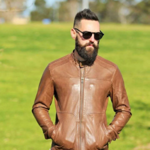 Bomber Brown Leather Jacket