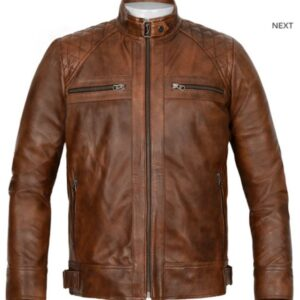 Espanol Brown Leather Jacket